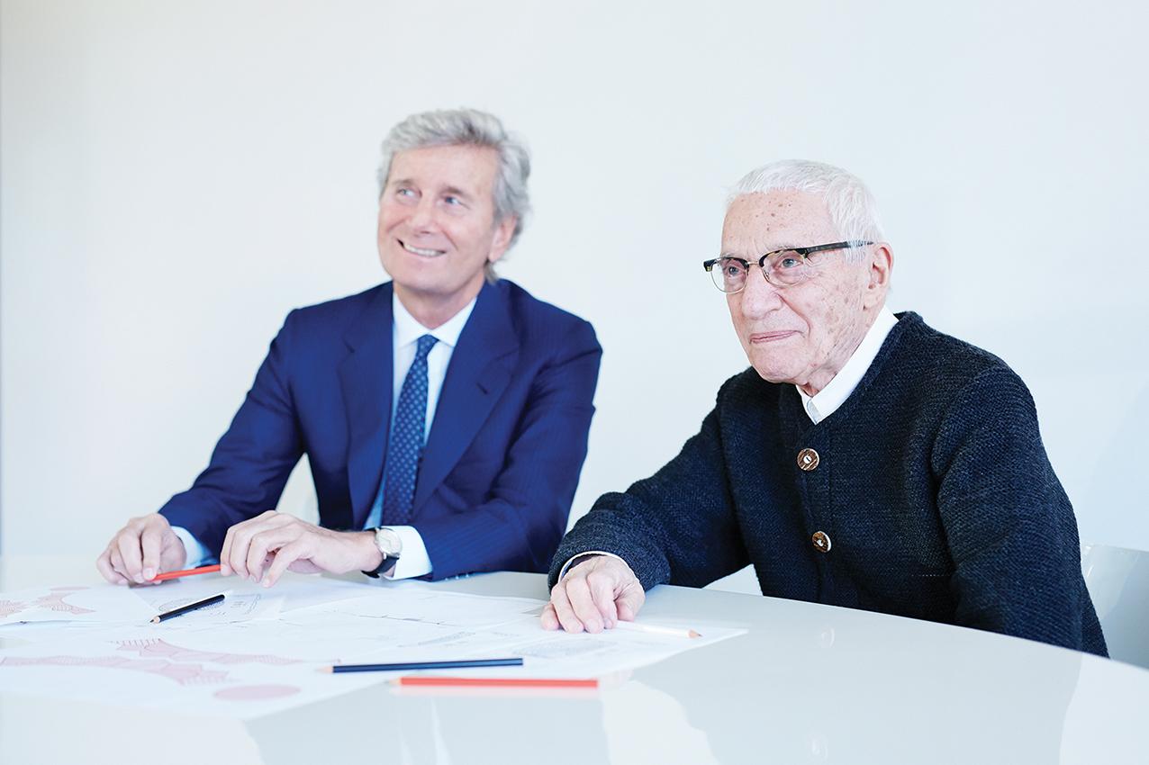 Claudio Luti and Alessandro Mendini, 2015.